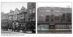 Borough High Street then and now