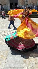 Bauchtänzerin auf dem Plaza de la Catedral