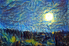 Supermoon - Van Gogh
