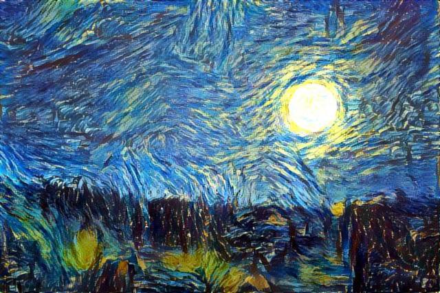 Supermoon - Van Gogh
