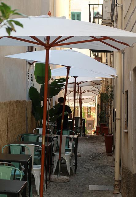 Narrow cafe