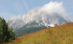 Blick zurück zum Untersberg, auf dem Weg zur Theresienklause