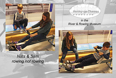 Nats & Sam rowing - The River & Rowing Museum - Henley-on-Thames - 19.8.2015