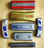 Vintage harmonicas.