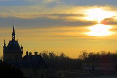 Lever de soleil sur Chantilly