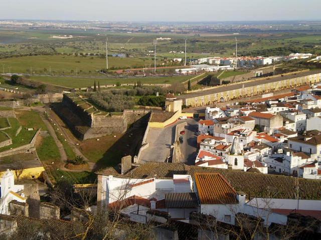 View from Elvas Castle.