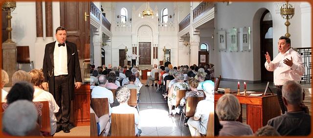 """Georgo Handzlik en la spektaklo """"Ludoviko Lazaro"""" - kadre de la 101a UKo en la sinagogo de Nitra"""