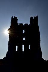East Tower silhouette - Helmsley Castle
