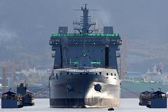 RFA TIDERACE undocking from floating dock