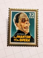 Lon Chaney postal stamp inspired lapel pin