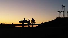 surfers at  sunset La Jolla Nov 2016
