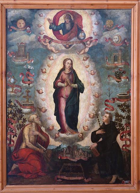 L'Immacolata con S. Girolamo e S. Antonio