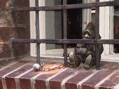 Bronze dwarf - in jail.