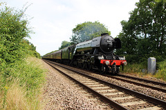 """LNER A3 Class 4-6-2 no 60103 Flying Sotsman on """"THE SCARBOROUGH FLYER""""  23rd June 2018"""