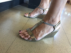 MILF with style and co wedge heels