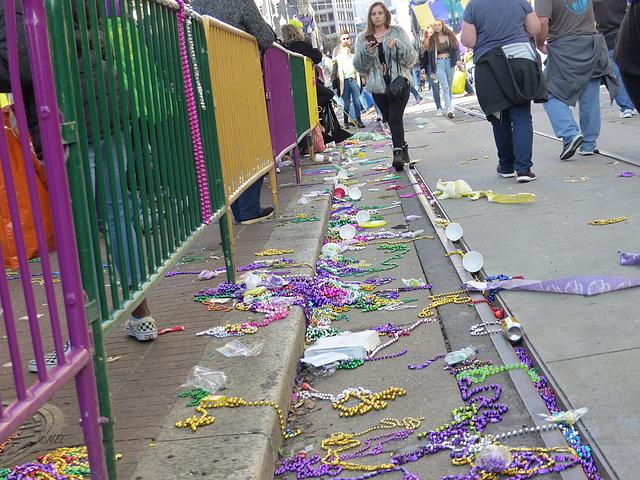 Die Reste nach der Parade