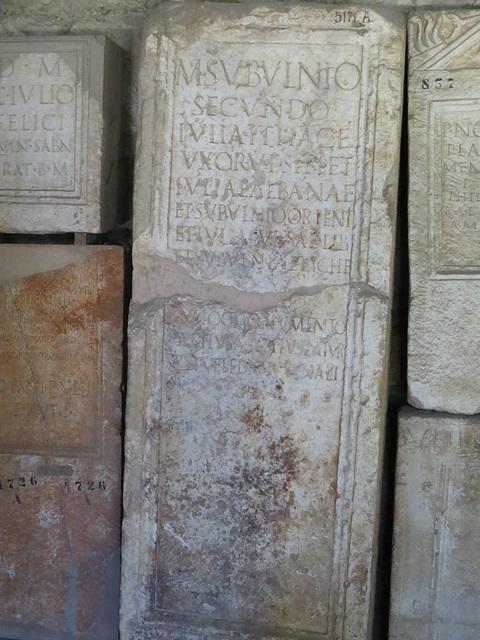 Musée archéologique de Split : inscription non référencée.