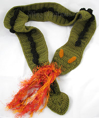 Crocheted Green Dragon Scarf