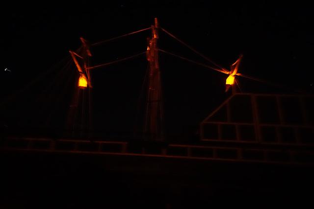 Ship Lanterns at Night