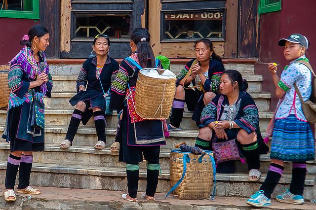Yao women meeting in Sa Pa