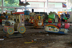 Abandoned amusement park in Yangon
