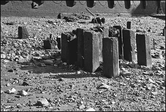 Remains of old wharf, Blackfriars.