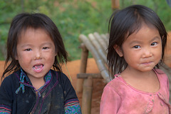 Kids in an hill tribes village