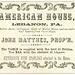 John Matthes, American House, Lebanon, Pa., ca. 1864