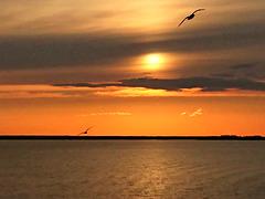 coucher du soleil sur la Volga