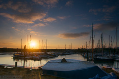 sunrise at the harbour