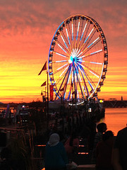 Capital Wheel sunset