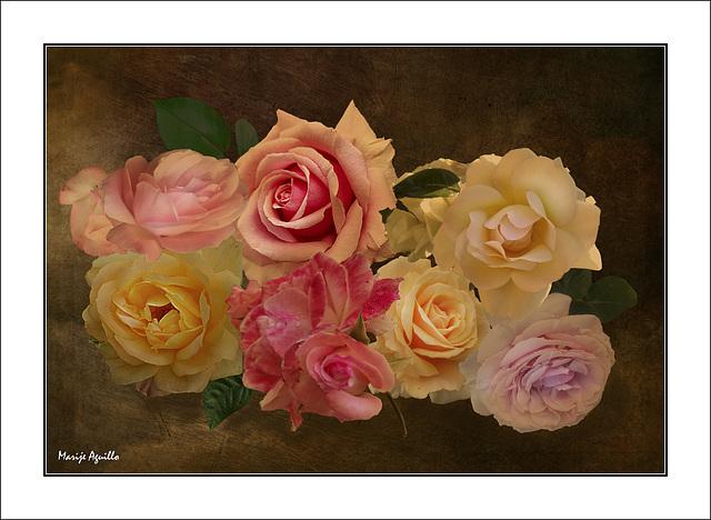 Composición rosas