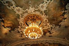 Detail of Auditorium Ceiling, Opera House, Prague
