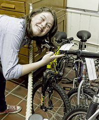 Phoebe found her old Raleigh bicycle in a museum