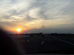 Verso sera..il dolce ritorno a Bologna! Il sole lentamente tramonta!!