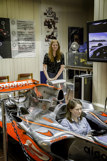 F1 simulator on the Brooklands circuit