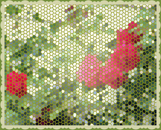 Tiled Roses.