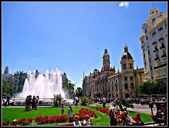 Valencia: plaza del Ayuntamiento.
