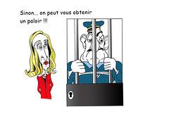 La ministre de la justice sécurise les gardiens de prison.