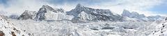 Panorama of Ngozumba Glacier