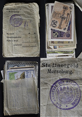 A collage of Notgeld