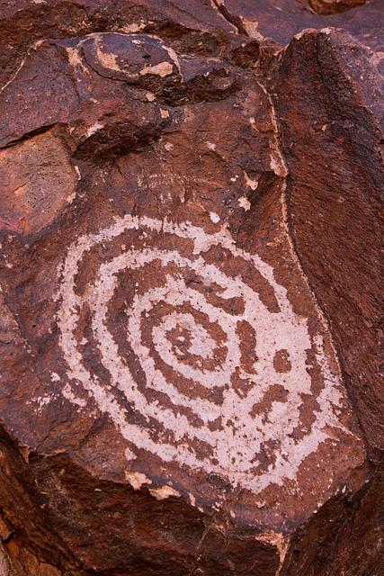Hohokam Petroglyph on Hayden Butte