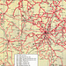 Part of the Eastern Counties bus map showing South Cambs and West Suffolk - Jan 1971