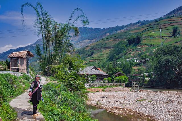 Along the Muong Hoa river