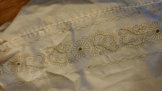 Embroidery close up