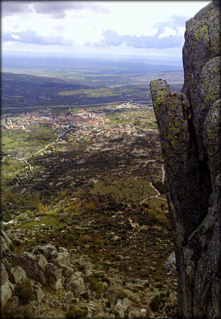 La Cabrera Town from the ridge