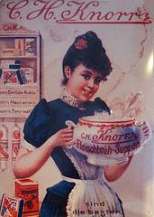 alte Werbung für Brühe