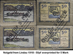 Notgeld of 1918 from Lindau - face and reverse