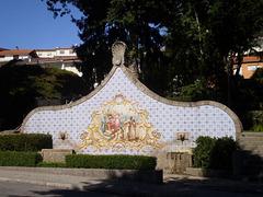 Egas Moniz Fountain.