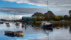 Two Wee Men in a Boat, River Leven, Dumbarton, Scotland